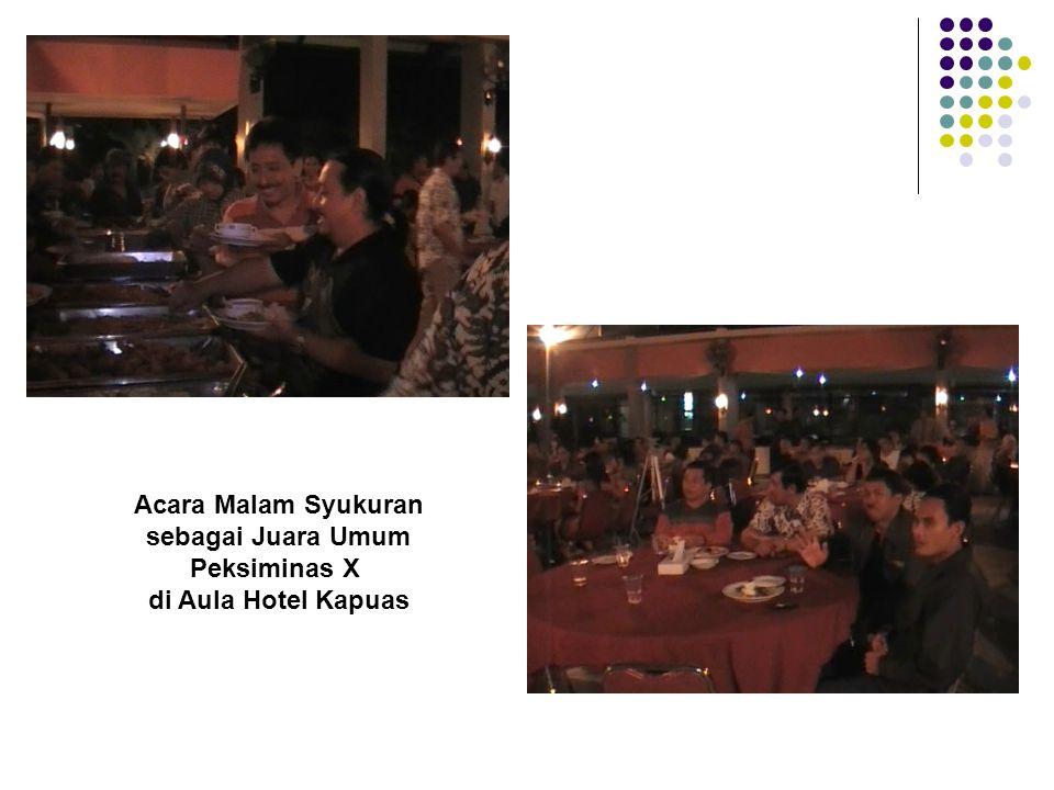 Peksiminas X di Aula Hotel Kapuas