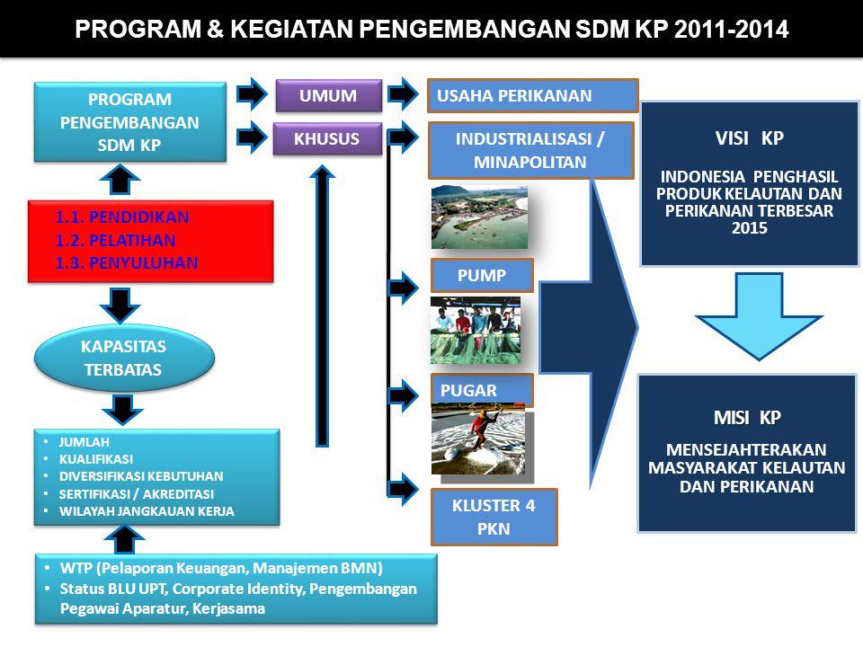 PROGRAM & KEGIATAN PENGEMBANGAN SDM KP 2011-2014