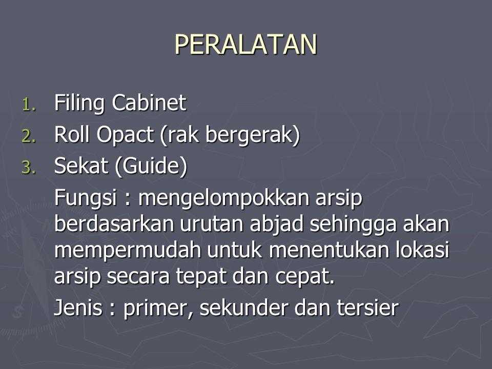 PERALATAN Filing Cabinet Roll Opact (rak bergerak) Sekat (Guide)