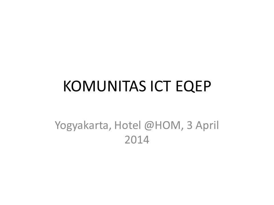 Yogyakarta, Hotel @HOM, 3 April 2014