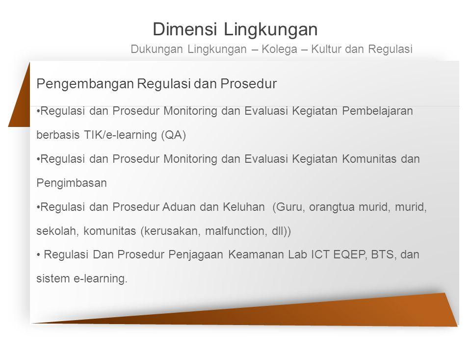 Dimensi Lingkungan Pengembangan Regulasi dan Prosedur