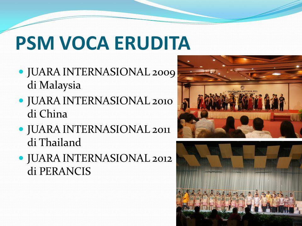 PSM VOCA ERUDITA JUARA INTERNASIONAL 2009 di Malaysia