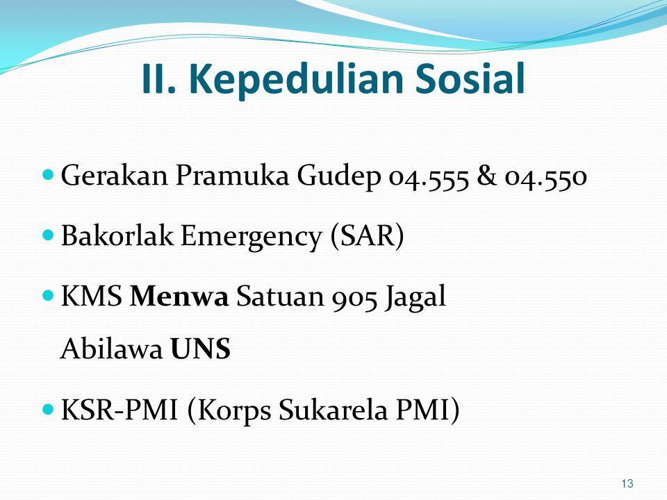 II. Kepedulian Sosial Gerakan Pramuka Gudep 04.555 & 04.550