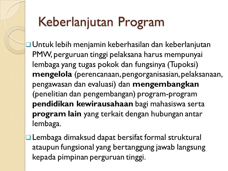 Keberlanjutan Program