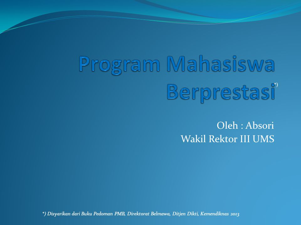 Program Mahasiswa Berprestasi