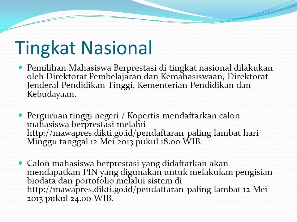 Tingkat Nasional