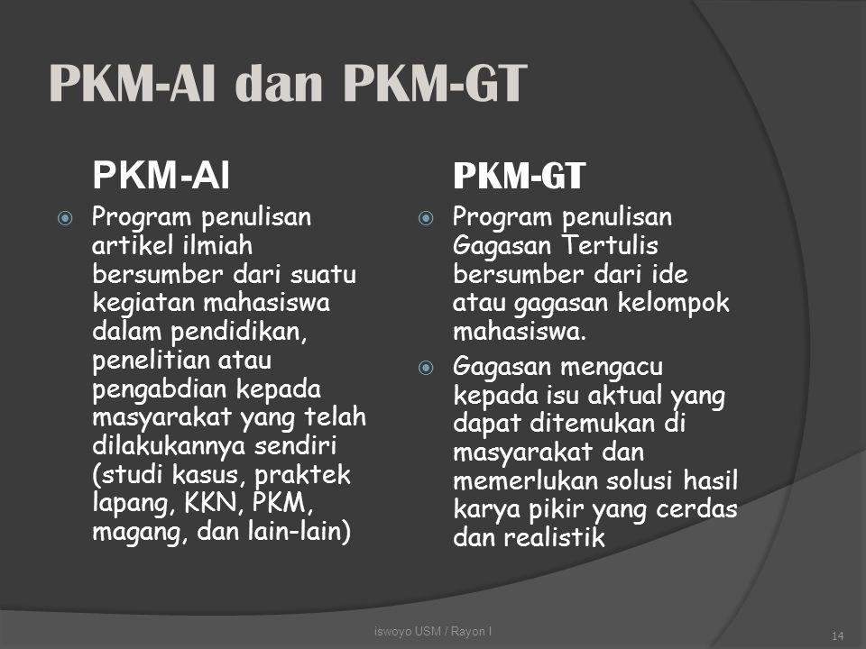 PKM-AI dan PKM-GT PKM-AI.