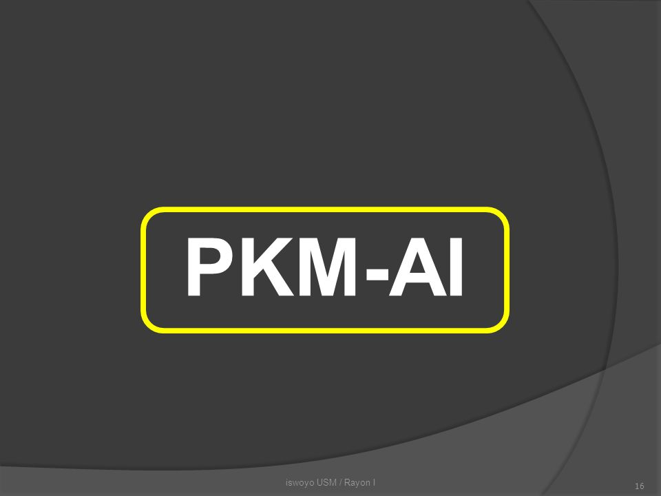 PKM-AI iswoyo USM / Rayon I