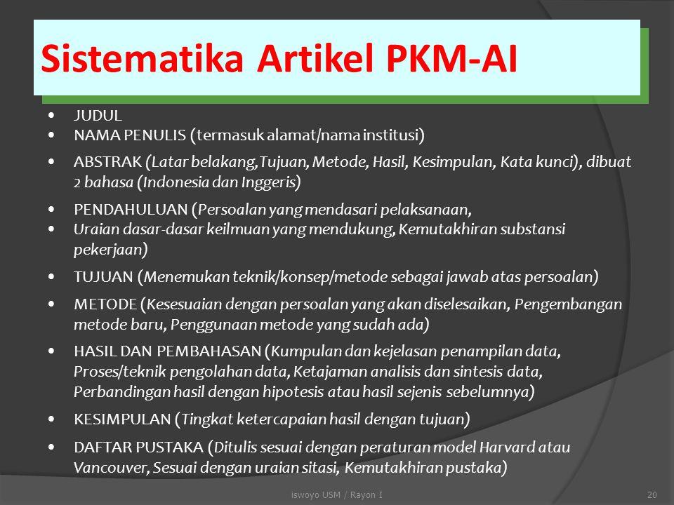 Sistematika Artikel PKM-AI