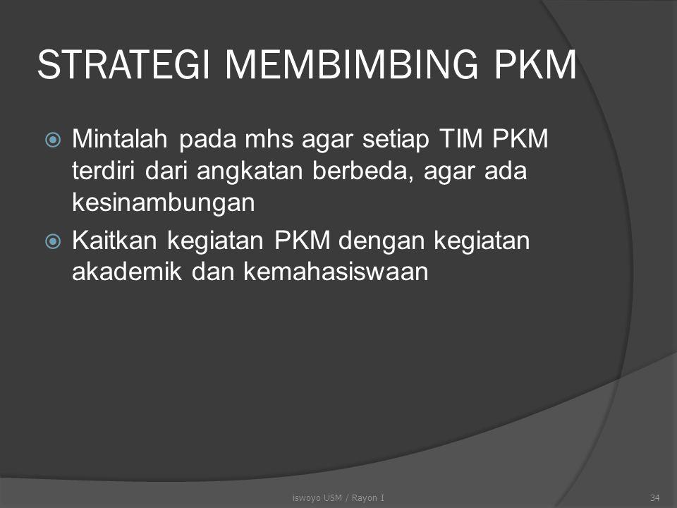 STRATEGI MEMBIMBING PKM