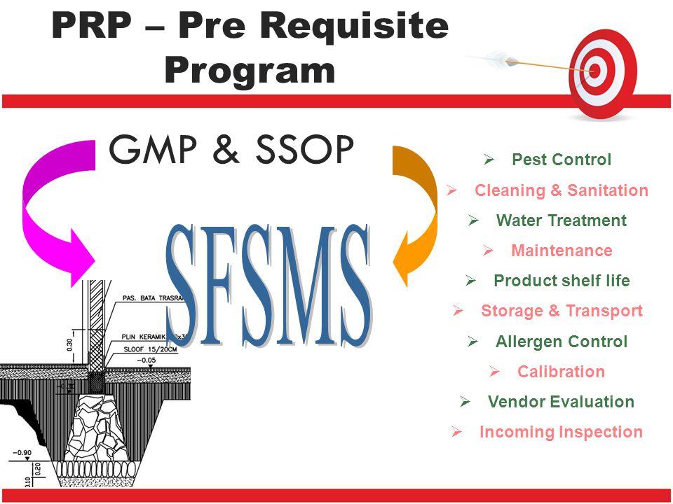 PRP – Pre Requisite Program