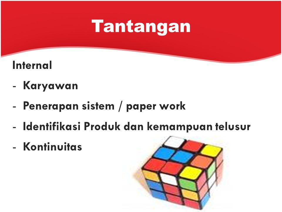 Tantangan Internal Karyawan Penerapan sistem / paper work