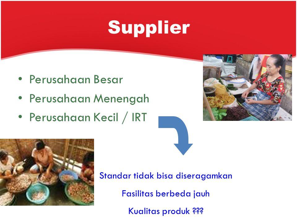Supplier Perusahaan Besar Perusahaan Menengah Perusahaan Kecil / IRT