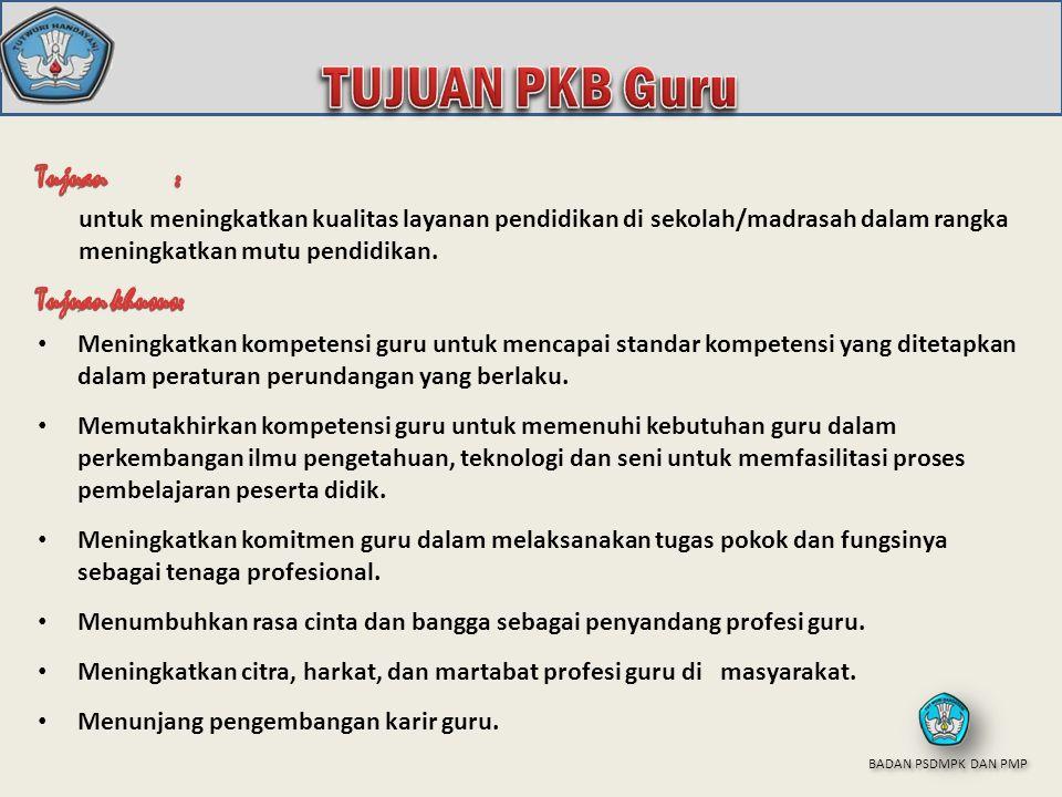 TUJUAN PKB Guru Tujuan umum: Tujuan khusus: