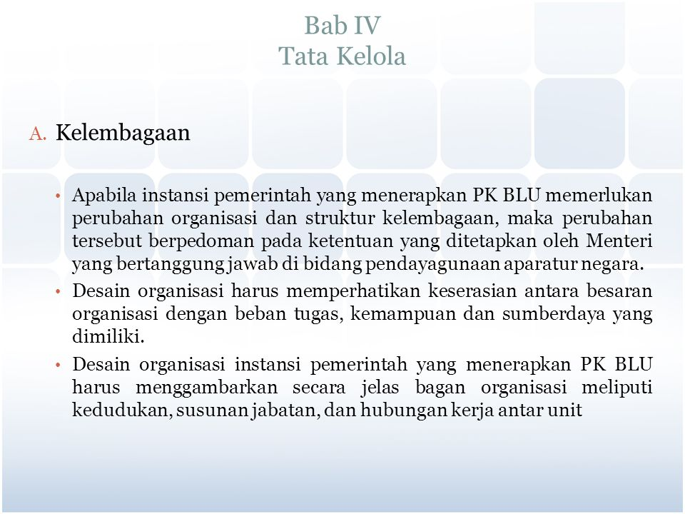 Bab IV Tata Kelola Kelembagaan