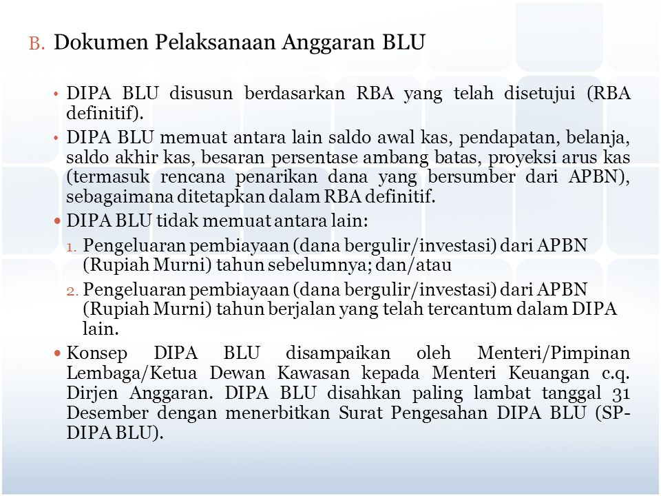Dokumen Pelaksanaan Anggaran BLU