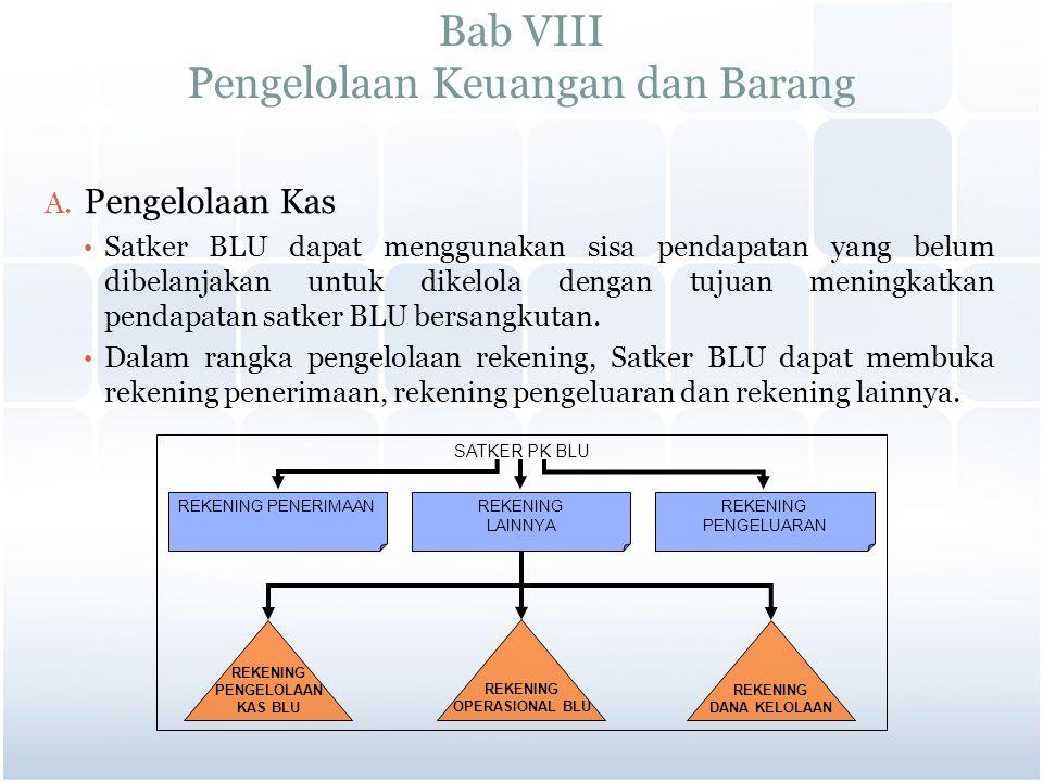 Bab VIII Pengelolaan Keuangan dan Barang