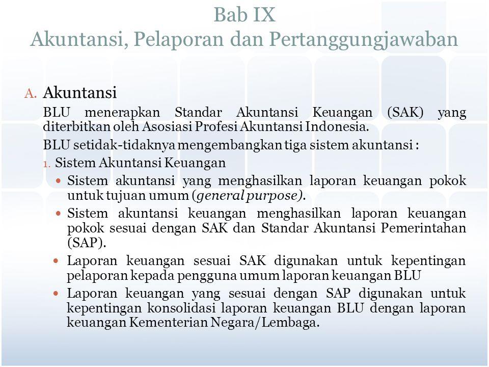 Bab IX Akuntansi, Pelaporan dan Pertanggungjawaban