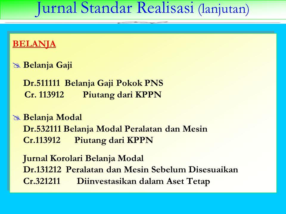 Jurnal Standar Realisasi (lanjutan)