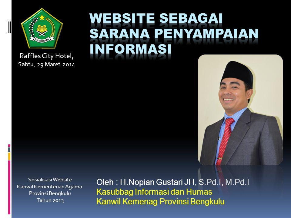 Website sebagai sarana penyampaian informasi