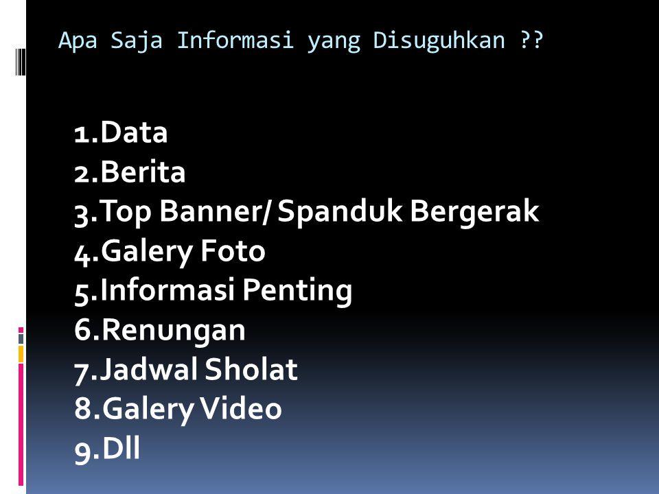 Apa Saja Informasi yang Disuguhkan