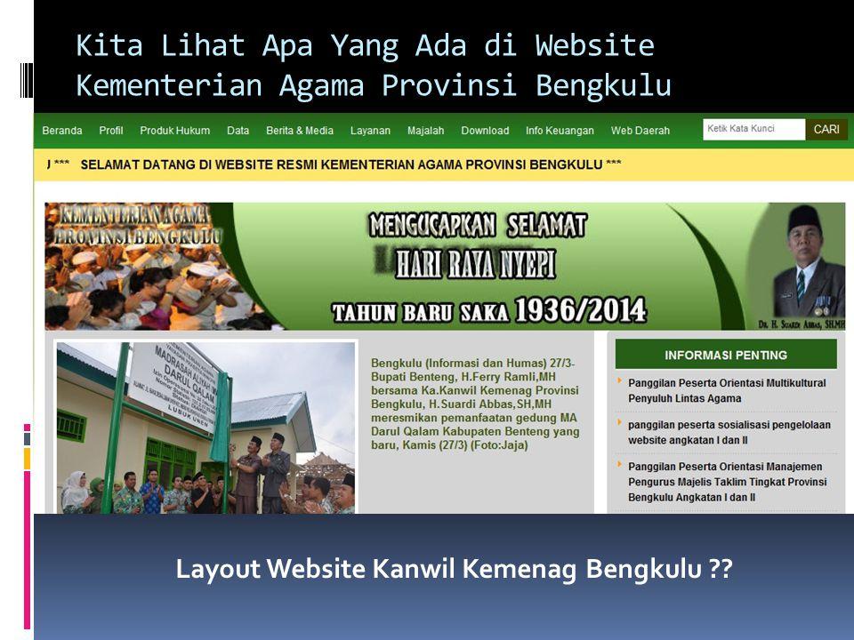 Kita Lihat Apa Yang Ada di Website Kementerian Agama Provinsi Bengkulu