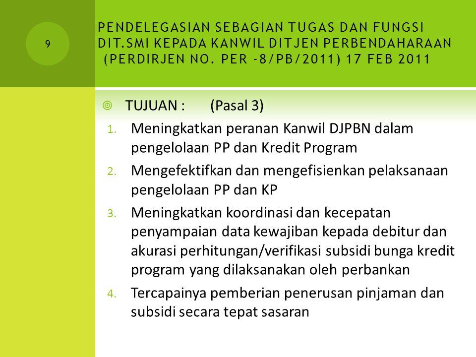 Mengefektifkan dan mengefisienkan pelaksanaan pengelolaan PP dan KP