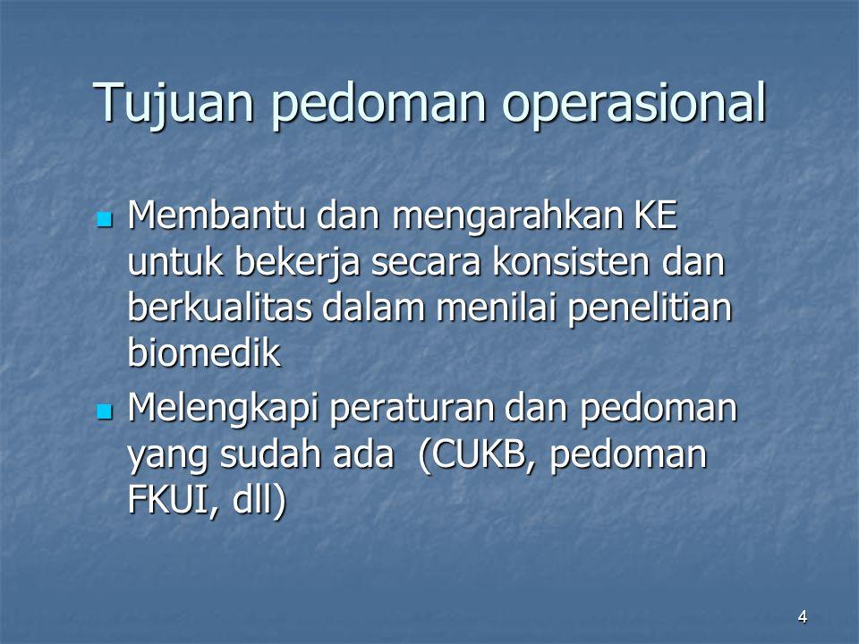Tujuan pedoman operasional