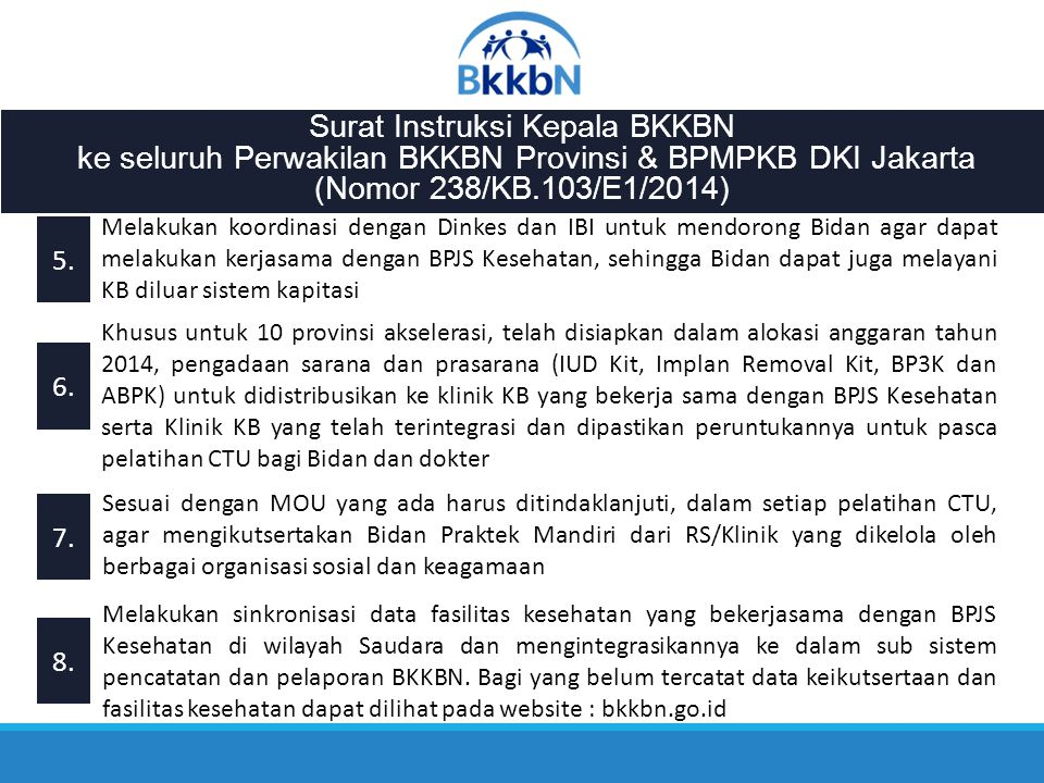 Surat Instruksi Kepala BKKBN