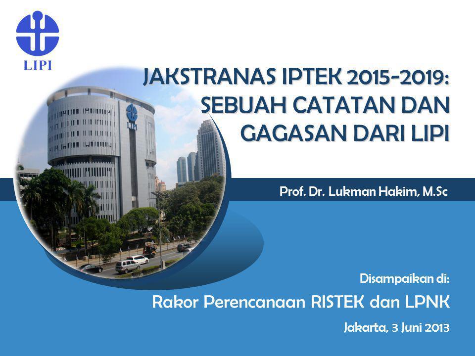 Prof. Dr. Lukman Hakim, M.Sc