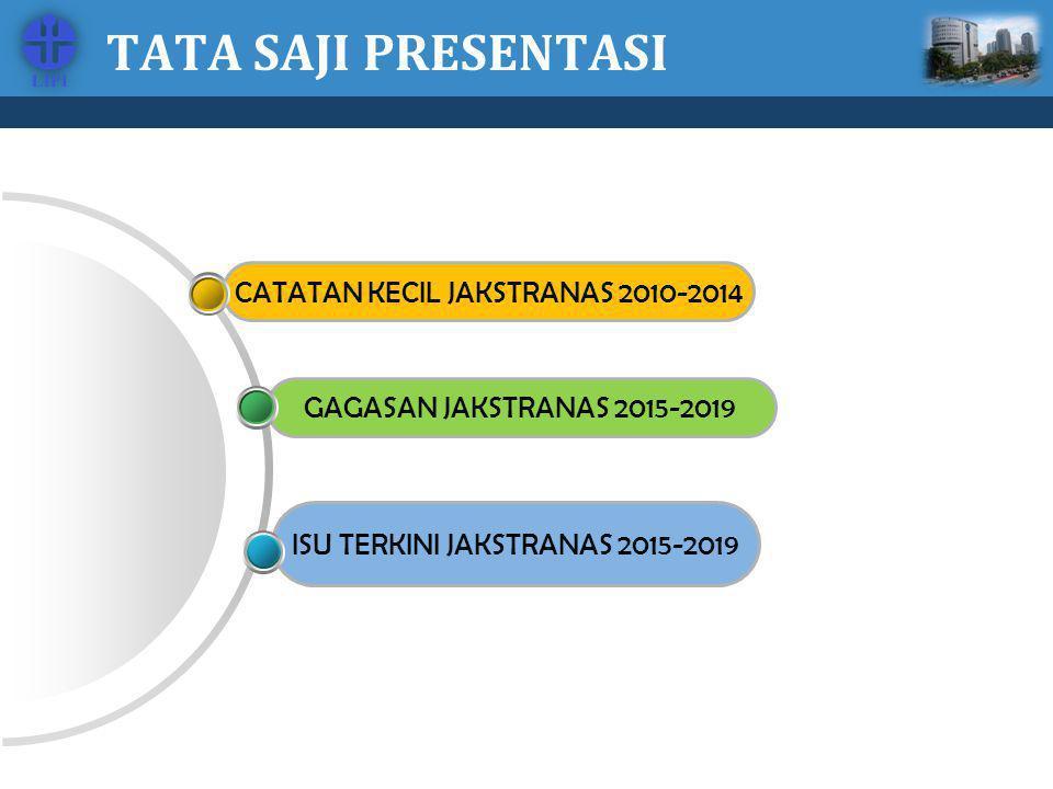 TATA SAJI PRESENTASI CATATAN KECIL JAKSTRANAS 2010-2014