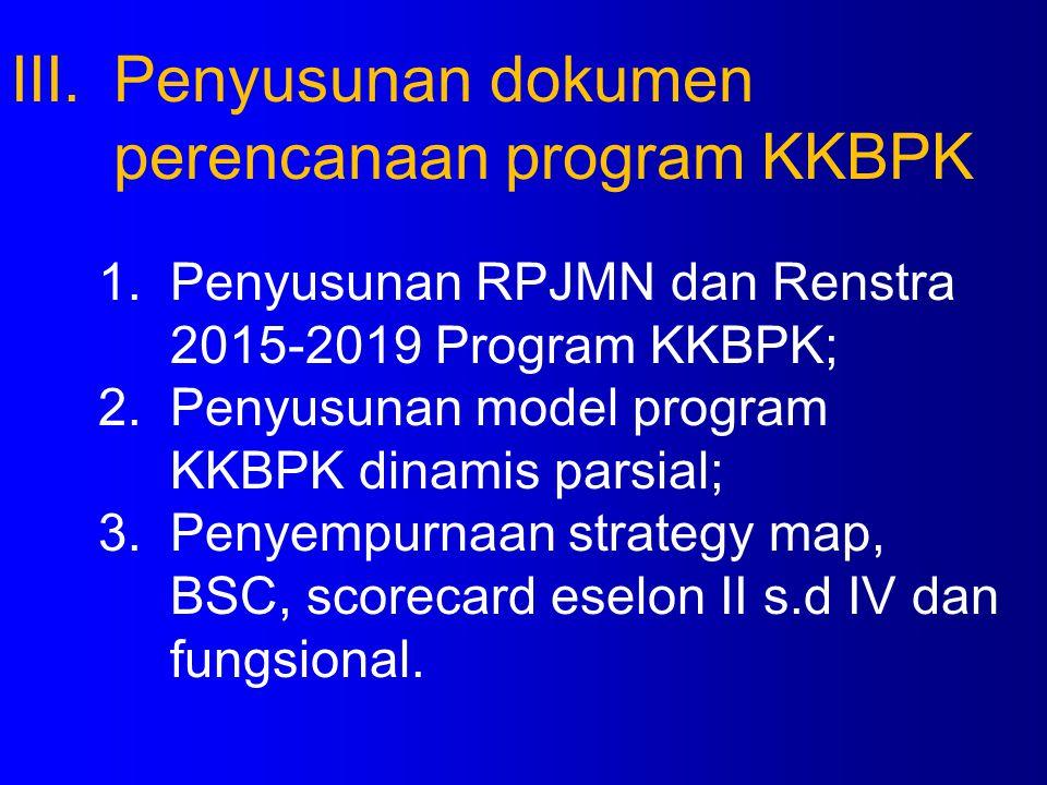 Penyusunan dokumen perencanaan program KKBPK