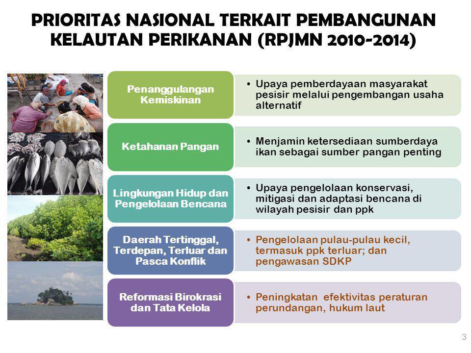 PRIORITAS NASIONAL TERKAIT PEMBANGUNAN KELAUTAN PERIKANAN (RPJMN 2010-2014)