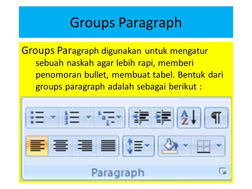 Groups Paragraph