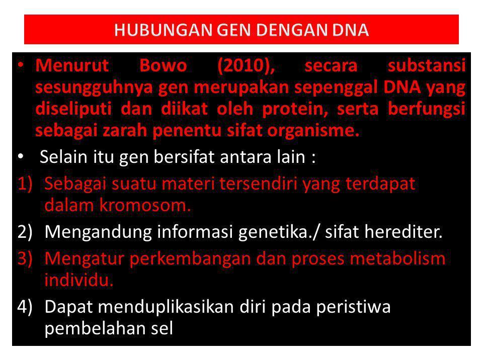 HUBUNGAN GEN DENGAN DNA