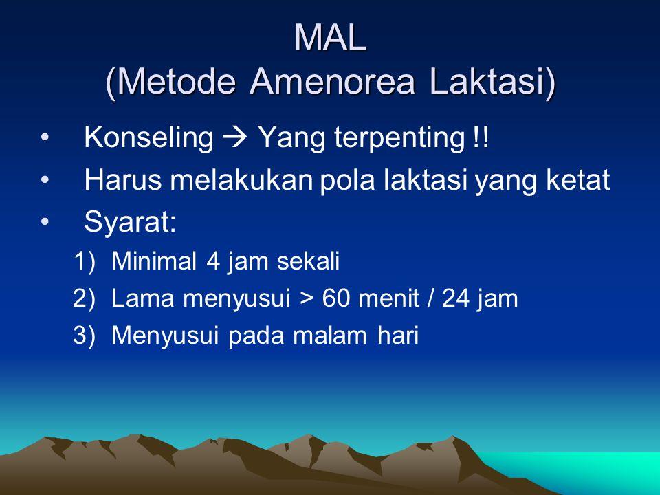 MAL (Metode Amenorea Laktasi)