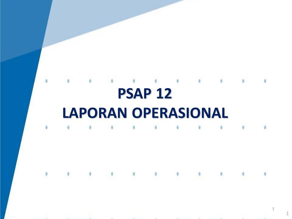 PSAP 12 LAPORAN OPERASIONAL