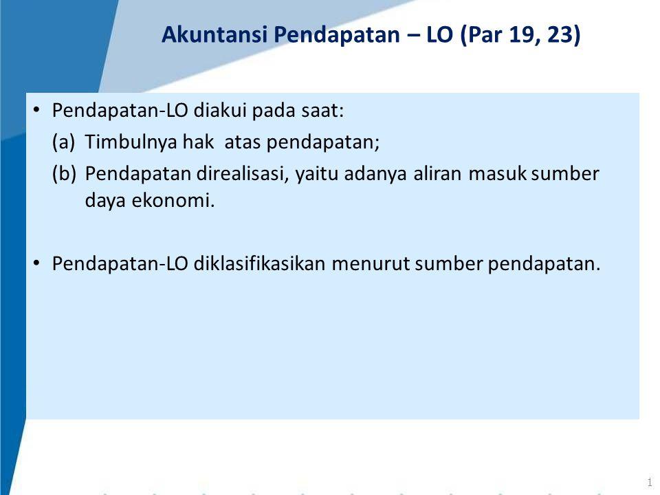 Akuntansi Pendapatan – LO (Par 19, 23)