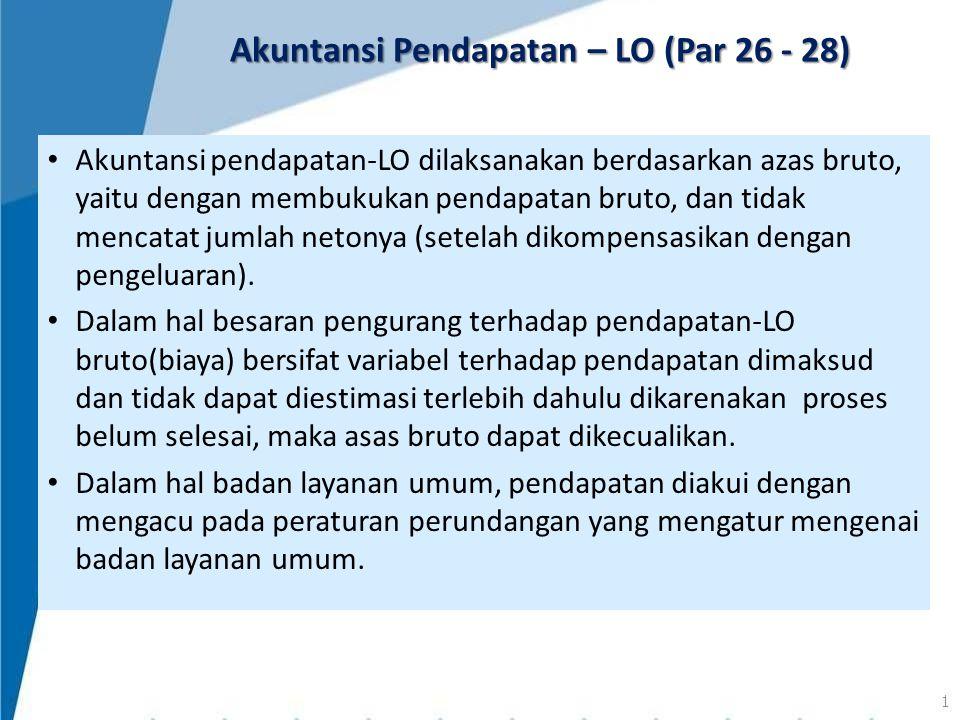 Akuntansi Pendapatan – LO (Par 26 - 28)