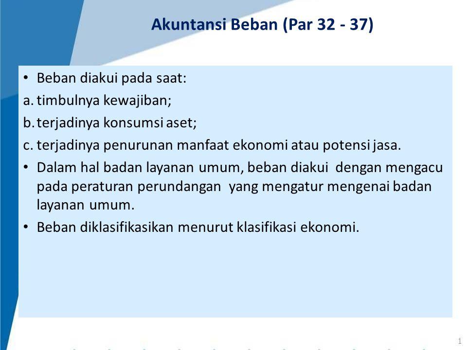 Akuntansi Beban (Par 32 - 37)