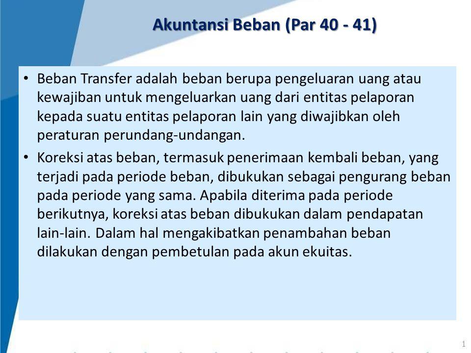 Akuntansi Beban (Par 40 - 41)