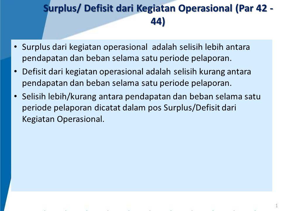 Surplus/ Defisit dari Kegiatan Operasional (Par 42 - 44)