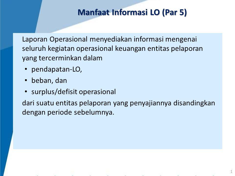 Manfaat Informasi LO (Par 5)