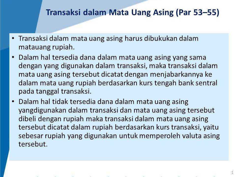 Transaksi dalam Mata Uang Asing (Par 53–55)