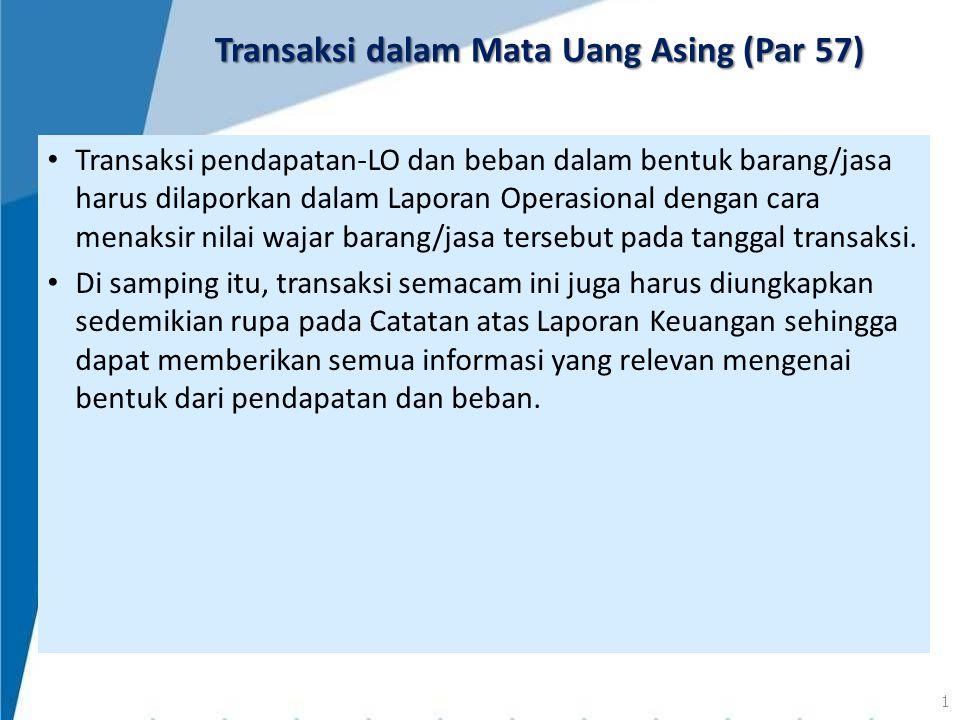 Transaksi dalam Mata Uang Asing (Par 57)