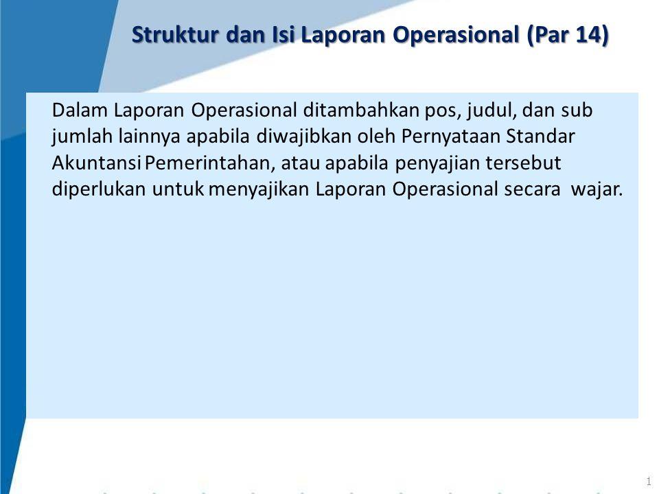 Struktur dan Isi Laporan Operasional (Par 14)