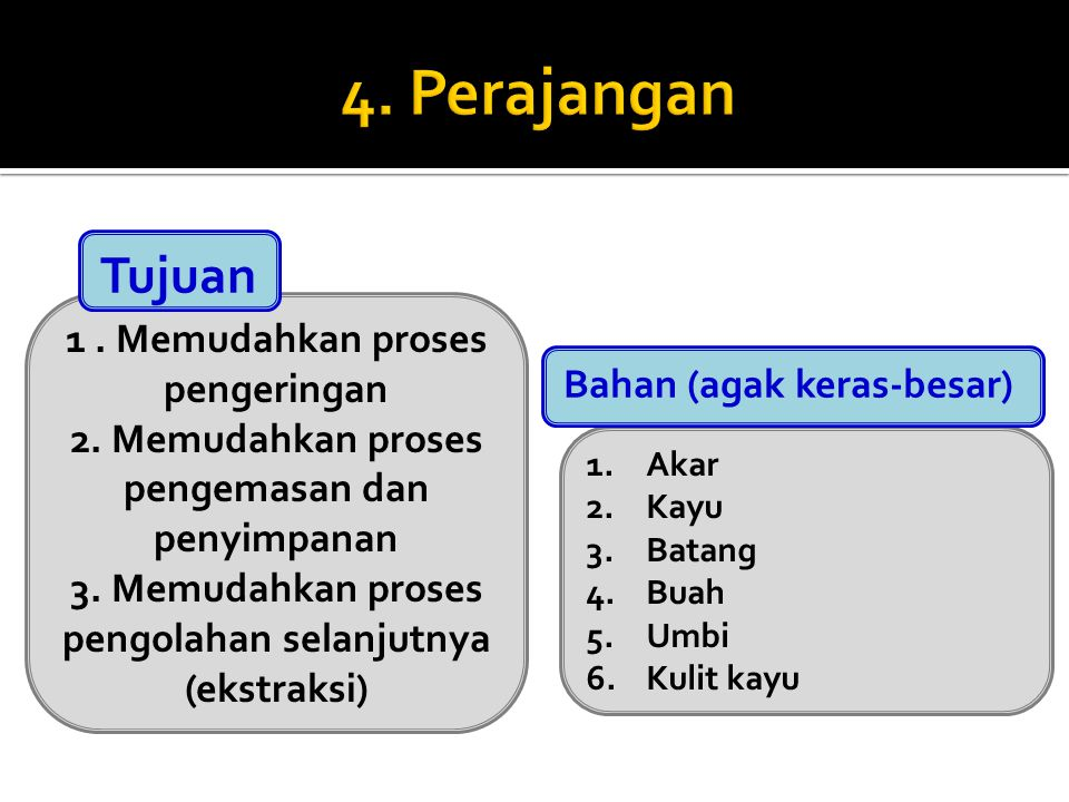 4. Perajangan Tujuan 1 . Memudahkan proses pengeringan