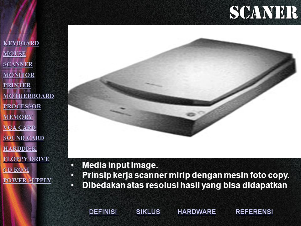 scaner Media input Image.