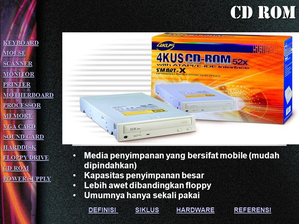 Cd rom Media penyimpanan yang bersifat mobile (mudah dipindahkan)