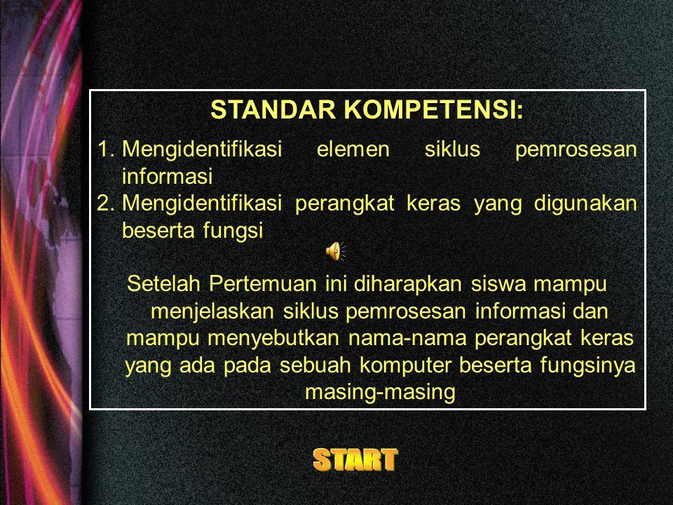 START STANDAR KOMPETENSI: